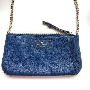Kate Spade small leather navy blue purse